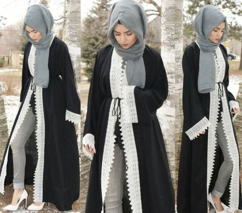 black-open-abaya-with-lace-details